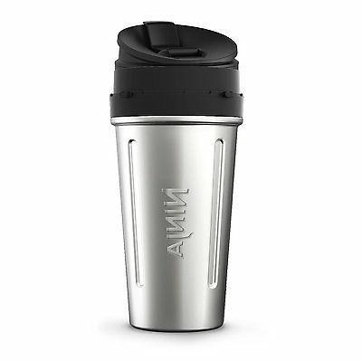 2/24 oz. Stainless Steel Nutri Ninja Cups with Sip & Seal Li