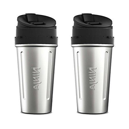 Ninja Stainless Steel Nutri Ninja Cup Sip & Seal Lid for Aut