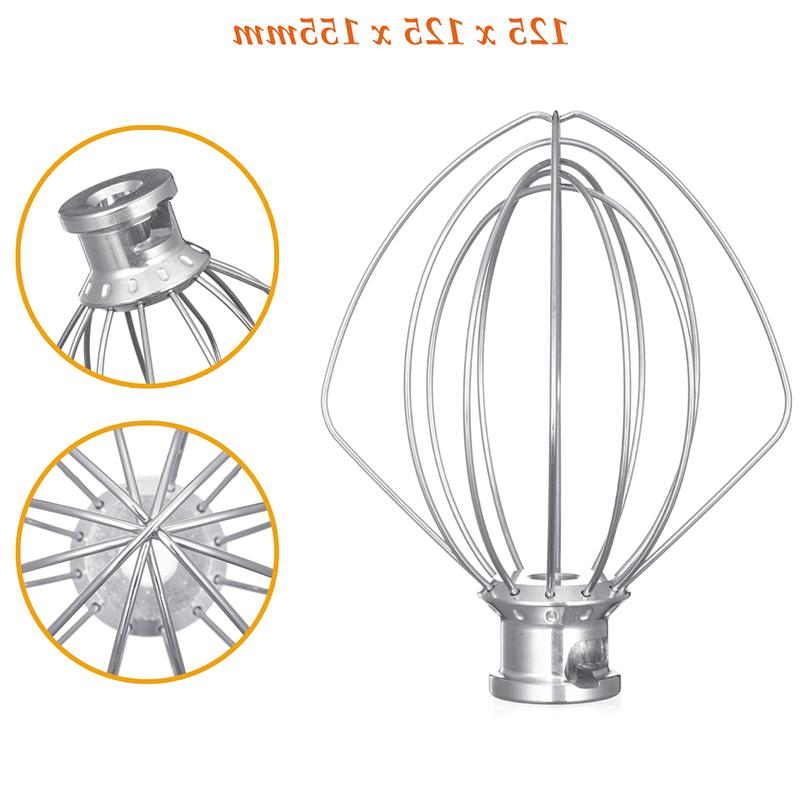 Stainless Mixer Attachment for K45Ww 9704329 Cake Balloon Whisk Egg Stirrer