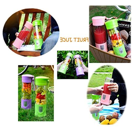 USB Electric Cup, Fruit Mini Portable Rechargeable /Juicing Mixing Ice Mixer Bottle