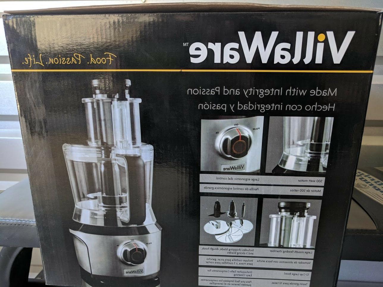 VillaWare New Steel VillaWare Processor Mixed Blender