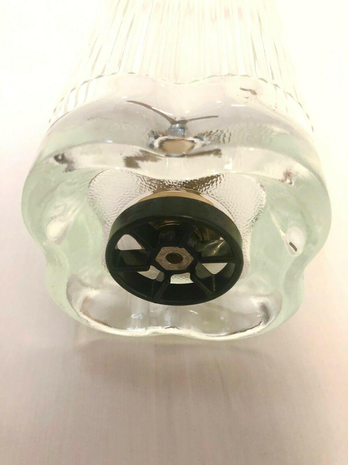 Vintage Leaf Quatrefoil Blender Glass Pyrex Jar