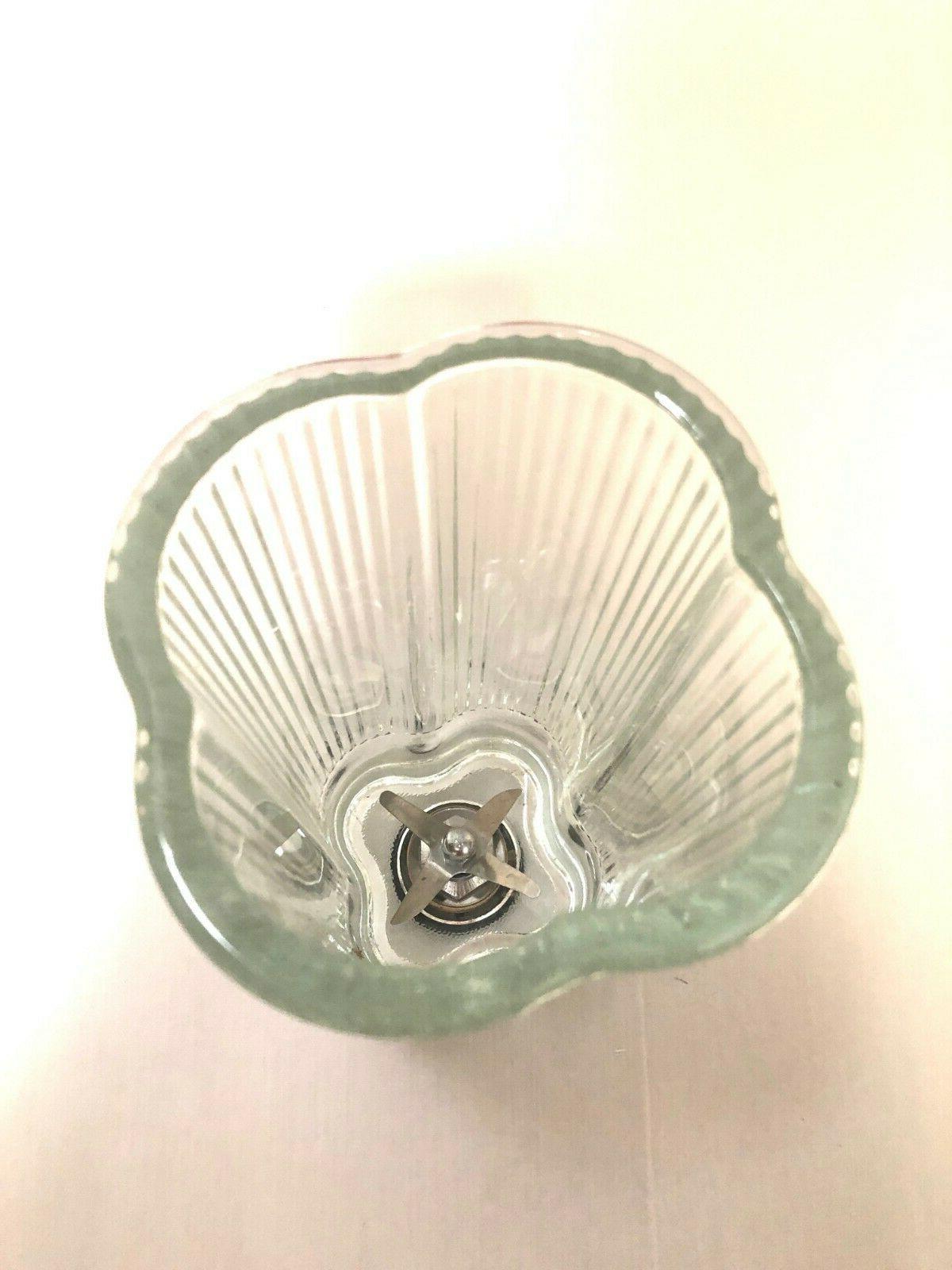 Vintage Clover Quatrefoil Blender Pyrex Jar