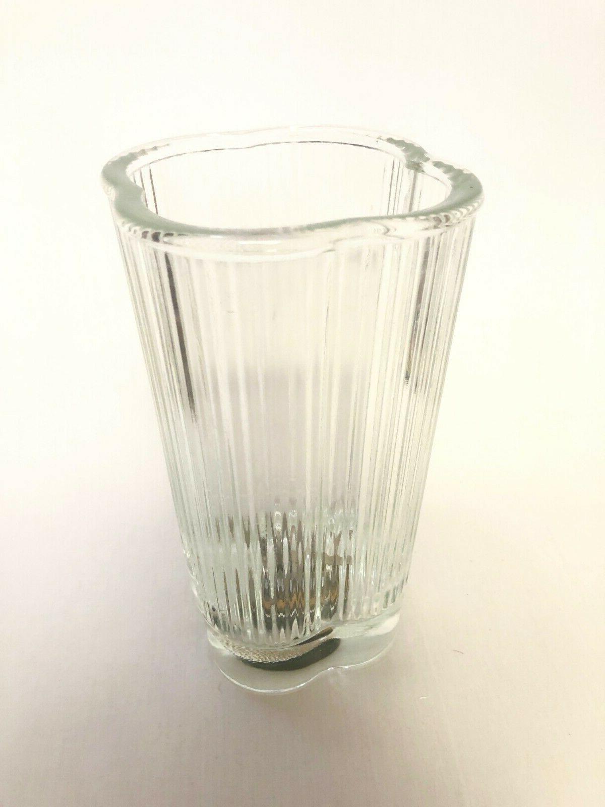 vintage clover leaf quatrefoil blender jar glass