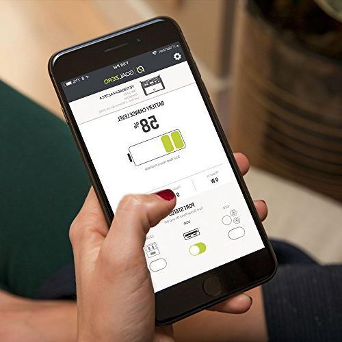 Lithium Power WiFi Mobile App Enabled 1425Wh Silent Free Generator Watt Inverter, USB,