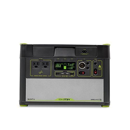 Goal Lithium Portable WiFi 1425Wh Generator Watt AC USB, USB-C, 12V
