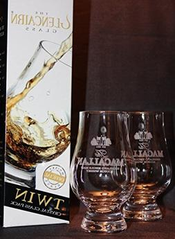 MACALLAN TWIN PACK GLENCAIRN SCOTCH MALT WHISKY TASTING GLAS