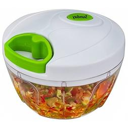 Manual Food Chopper: Compact & Powerful Hand Held Vegetable