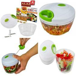 Manual Food Chopper: Compact & Powerful Hand Held Vegetable