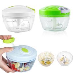 Manual Food Chopper Hand Held Vegetable Onion Blender Mincer