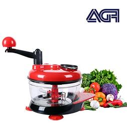 Manual Food Processor Baby Food Chopper Food Grinder Red 200