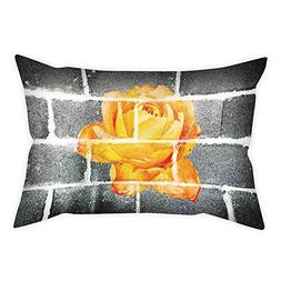iPrint Microfiber Throw Pillow Cushion Cover,Rustic Flower D