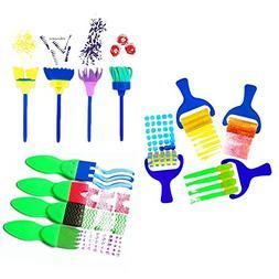 IzHotta Mini Flower Sponge Brushes Paint Early Learning Kids