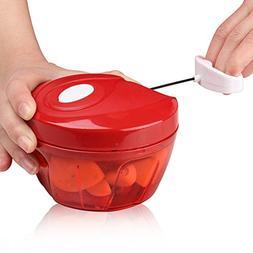 Valuetools Manual Food Chopper Processor - Hand Pull Portabl