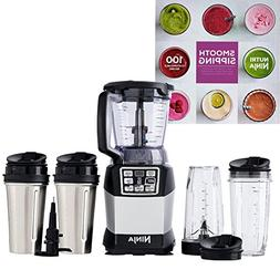 Ninja Auto-IQ 40-Ounce Blender with 4 Cups and a Recipe Book