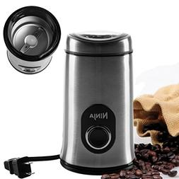 Ninja Electric Coffee Bean Grinder with Safety Lock Push But