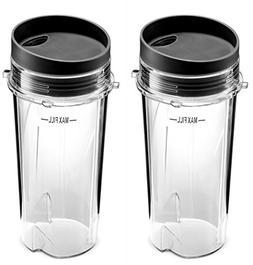 Ninja Single Serve 16-Ounce Cup Set for BL770 BL780 BL660 Pr
