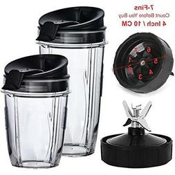 Nutri Ninja Blender Cups And Blade  Set 5-Piece Replacement