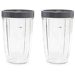 NUTRiBULLET 24-Ounce Cups with Screw-Off Lip Ring by NutriGe
