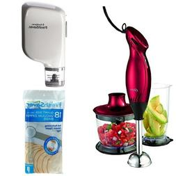 Oster 2 Speed Immersion Hand Blender with Food Chopper Attac