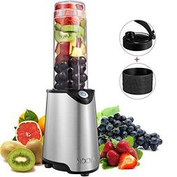 Aicok Personal Blender, Smoothie Maker, Stainless Steel Sing