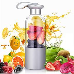 Personal Blender - Portable Blender Bottle for Shakes and Sm