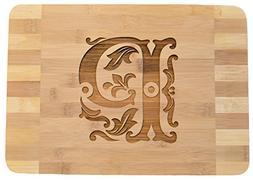 Personalized / Custom Engraved Monogram Bamboo Wood Cutting