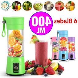 Portable 400ml Electric Juice Blender Safety Juicer Cup Mult