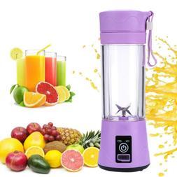 Portable Fruit Juicer Cup Juice mixer USB Rechargeable 380ml