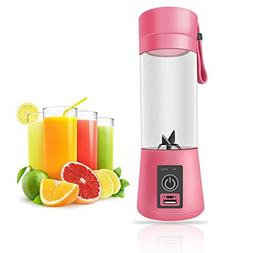 KOBWA Portable Juicer Cup,Rechargeable Fruit Mixing Ice Blen