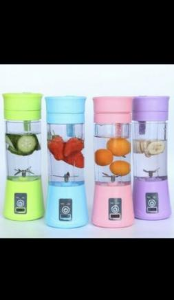 Portable USB Rechargeable 4-Blade Electric Juicer Bottle Ble