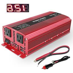 Lvyuan 1500W/3000W Power Inverter Dual AC Outlets and Dual U
