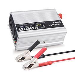 Mesllin 600W Power Inverter, DC12V to AC 110V Car Modified S