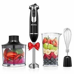 Powerful 4-in-1 Hand Blender 350W 6-Speed Immersion Blender