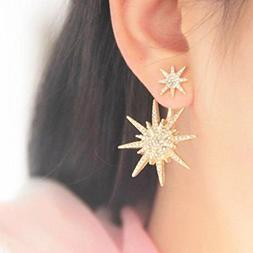 Prime Hot! Crystal Earrings,Leewos Women Rhinestone Gold Dan