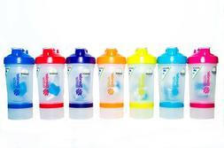 BlenderBottle ProStak 22 oz Shaker Blender Bottle Protein Mi