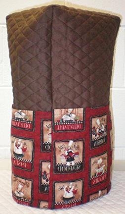 Quilted Large Red Fat Bistro Chefs Blender Cover