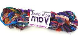 Darn Good Yarn Recycled Multicolor Silk Yarn, The Blender, 5