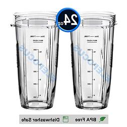 2 Pack 24oz Regular Cups with Marks for Measuring for Nutri