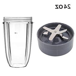 QueenTrade Replacement Cup & Blade Set - 24OZ Tall Cup with