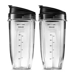 Blendin 2 Pack Replacement 24 Ounce Cups With Sip N Seal Lid