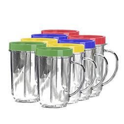 Lutema Replacement Juicer Cups 16oz. - Party Cup Mugs Compat