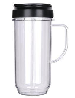 Replacement 22oz Magic Bullet On The Go Cups with Mugs & Fli