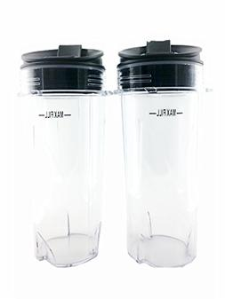 Sduck Replacement Parts for Nutri Ninja, Two Pack 16 oz. Cup