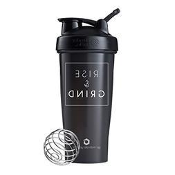 Rise & Grind on BlenderBottle brand Classic shaker cup, 28oz