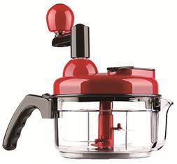Manual Food Processor 4 Cup Hand Crank Food Chopper Blender