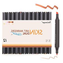 Dainayw Skin Tone Markers, Dual Tip Alcohol Marker Pens,Colo