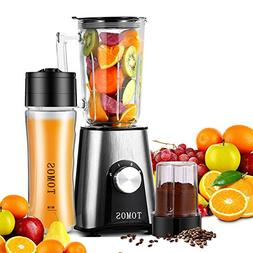 Tomos Smoothie Blender, 300w Personal High Speed Blender for