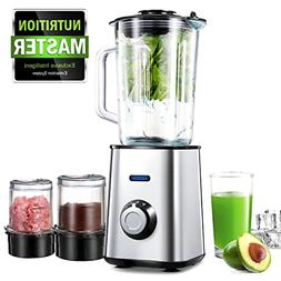 AICOOK Smoothie Maker, Professional Blender with 1.5L Glass