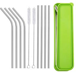 Stainless Steel Drinking Straws, CBTONE Set of 8 Reusable Me